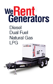we rent generators